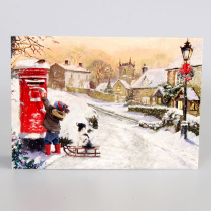 Snowy Village Scene Christmas Cards