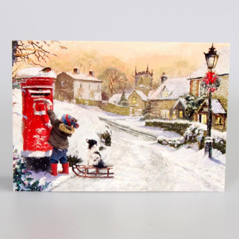 Snowy Village Scene Christmas Cards Save The Children Shop