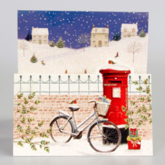 Winter Post box & Bicycle Christmas Cards