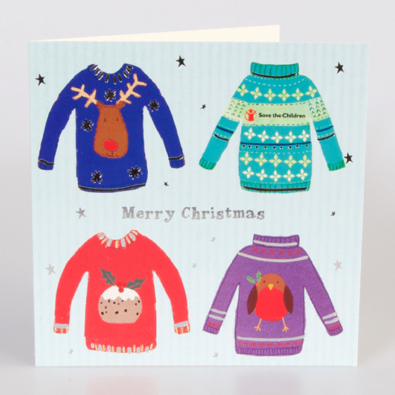 Children Christmas Cards.Christmas Jumpers