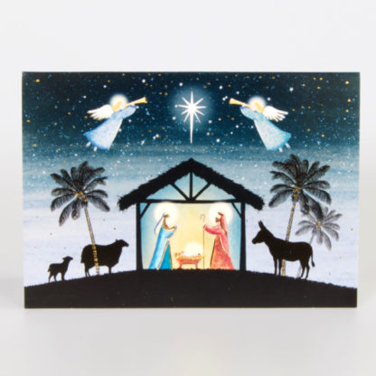 Angels over the Stable Christmas Cards