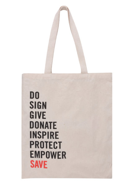 save the children tote bag