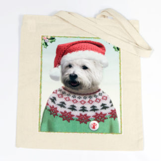 Chester westie tote bag