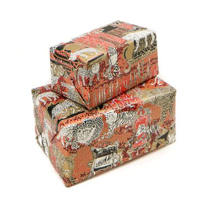 Tiger wrapping gift paper