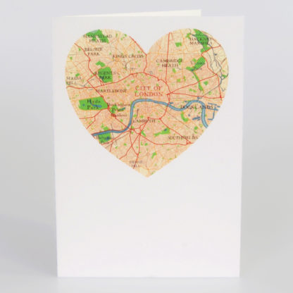 City of London Heart greeting card