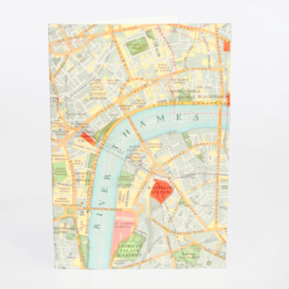 River Thames Map greeting card