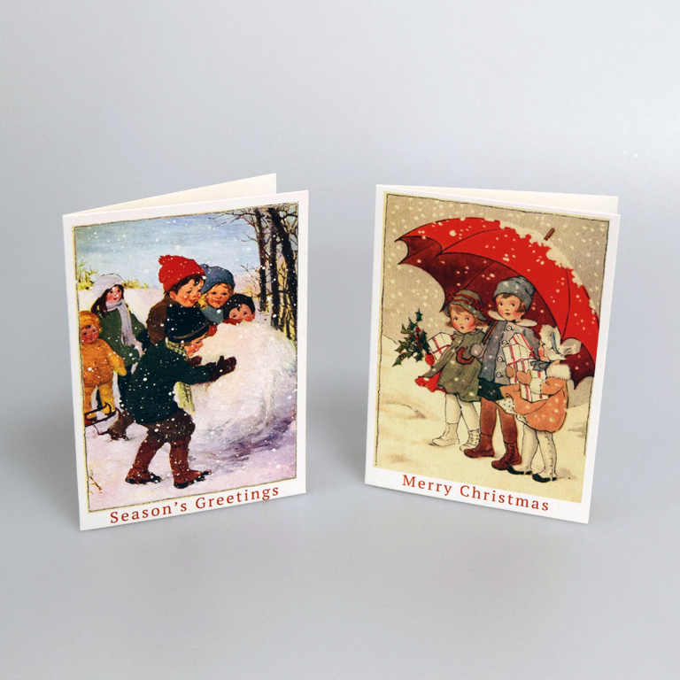 Children Christmas Cards.Vintage Christmas Cards