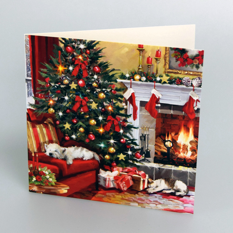 Fireplace Christmas.Christmas Fireplace Christmas Cards