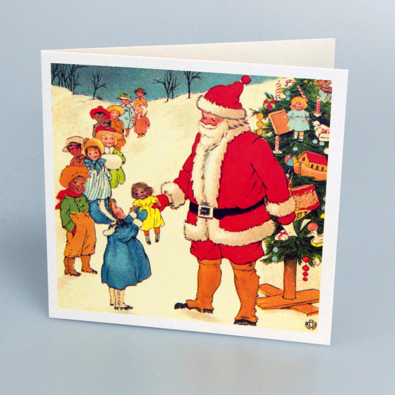 Vintage Christmas Cards.Vintage Father Christmas Cards