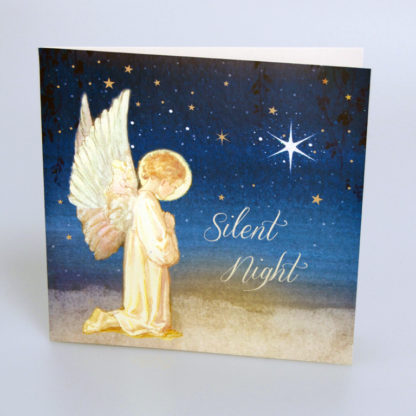 Silent Night Angel Christmas Cards
