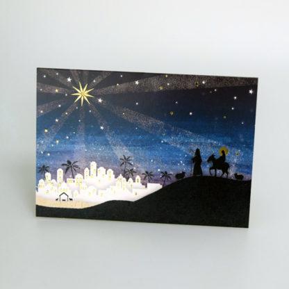 Silhouette Bethlehem Christmas Cards