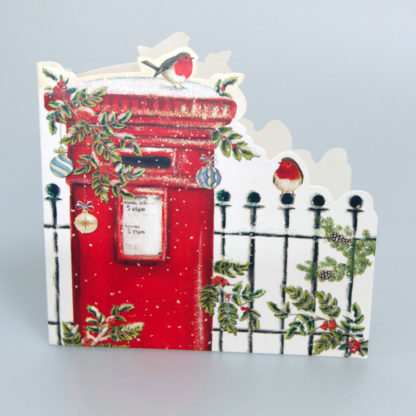 Robin on a Postbox Christmas Cards