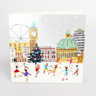 London Skating Scene Christmas Cards