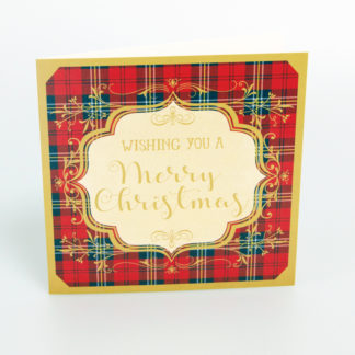 Tartan Merry Christmas Cards