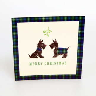 Tartan Scottie Dogs Christmas Cards