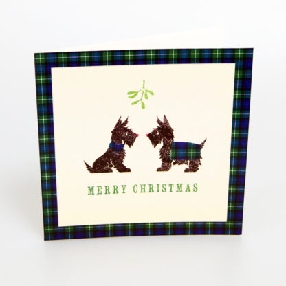 Tartan Scottie Dogs Christmas Cards