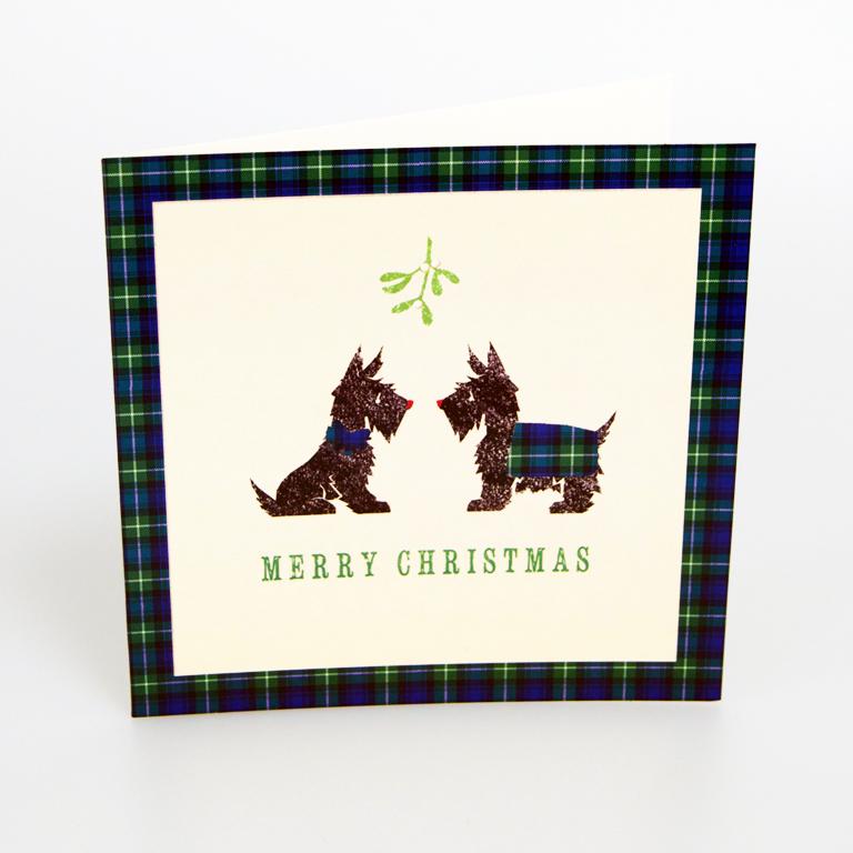 Dog Christmas Cards.Tartan Scottie Dogs Christmas Cards