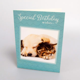 Cuddling Pets Greeting Card