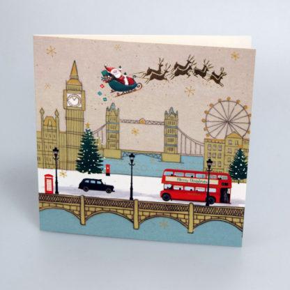 Santa over London