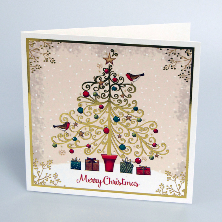 Children Christmas Cards.Presents Under The Tree Christmas Cards
