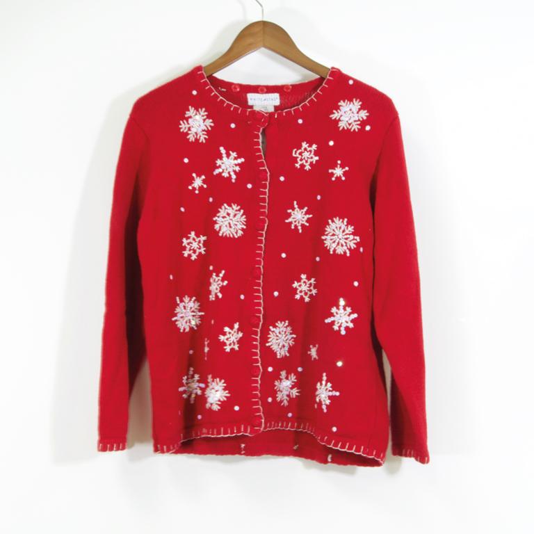 Christmas Cardigan.Snowflakes Christmas Cardigan