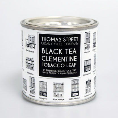 Candle tin black tea clementine & tobacco