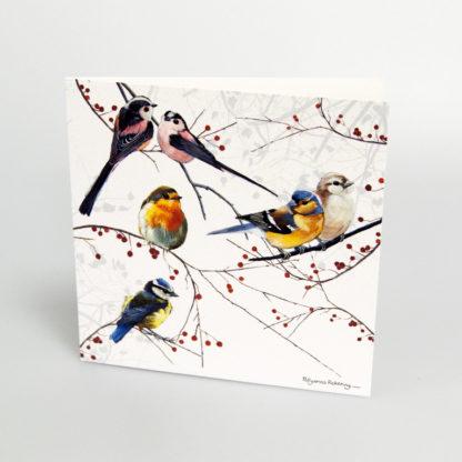Garden birds greeting card