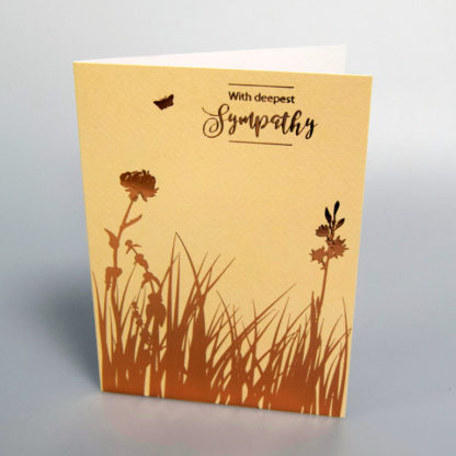 Sympathy greeting card