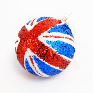 Union flag bauble