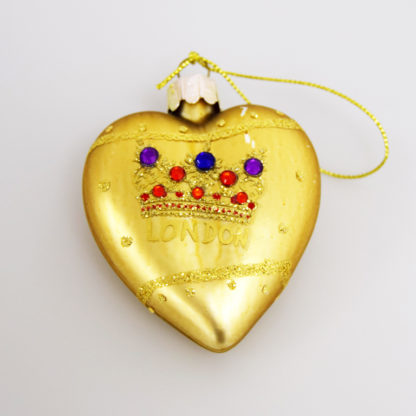 Gold heart tree decoration