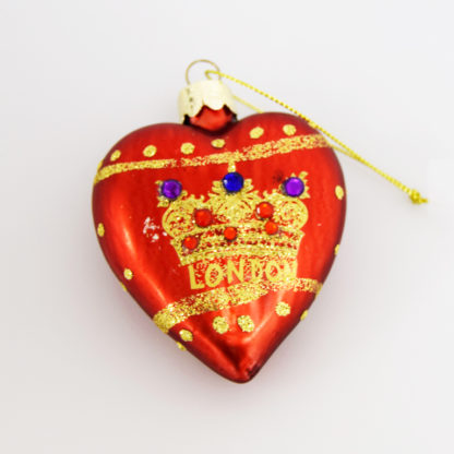 Red heart tree decoration