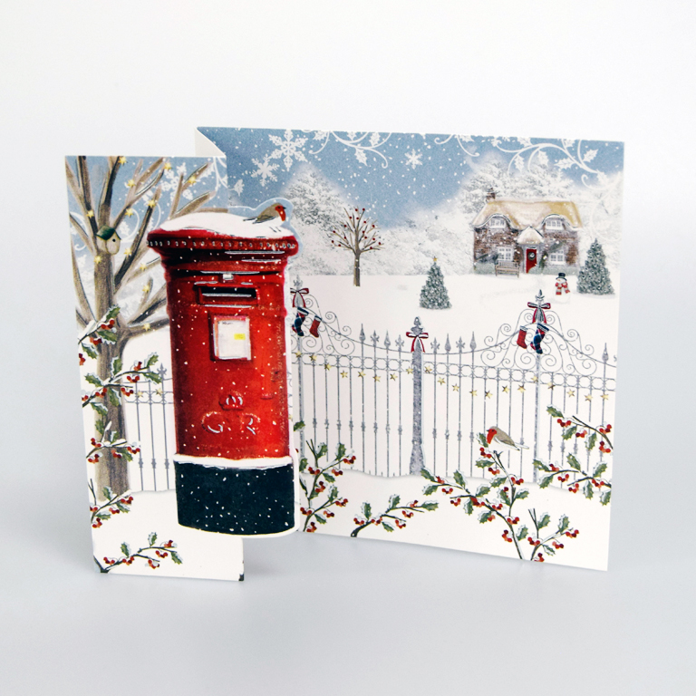 2019 White House Christmas Card.Snowy Postbox Christmas Cards