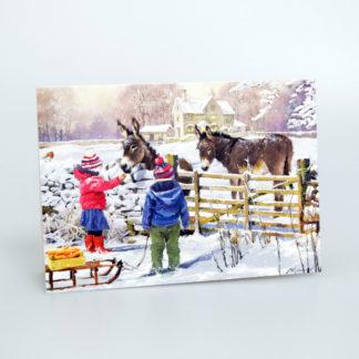 Feeding the Donkeys Christmas Cards