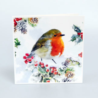 Robin and Berries Christmas Cards