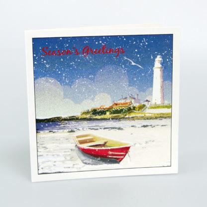 Lighthouse Scene Christmas Cards