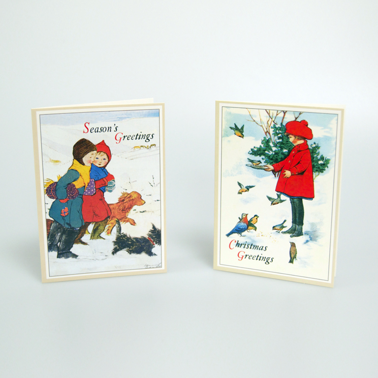 Children Christmas Cards.Vintage Children Christmas Cards
