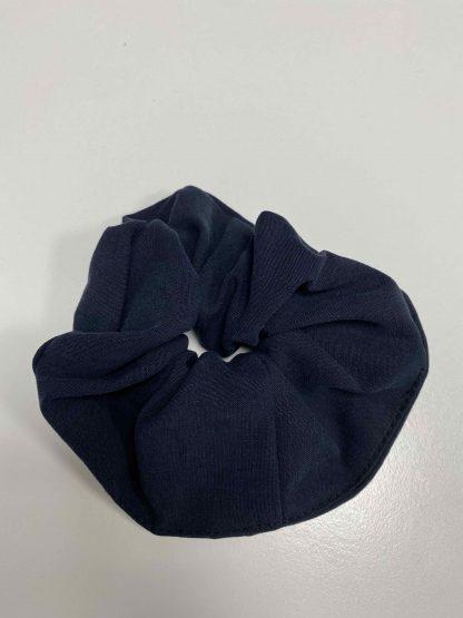 Navy scrunchie