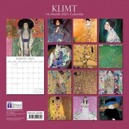 Klimt 2021 calendar