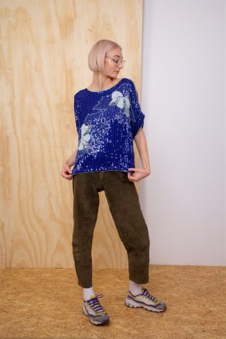 Vintage Blue Sequin top